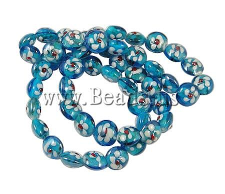 Free shipping!!! 5Strands/Lot Cheap Jewelry Flat Round 15x12.50mm Hole:approx 1.5mm Lenth:14 Inch Gold Sand Lampwork Beads