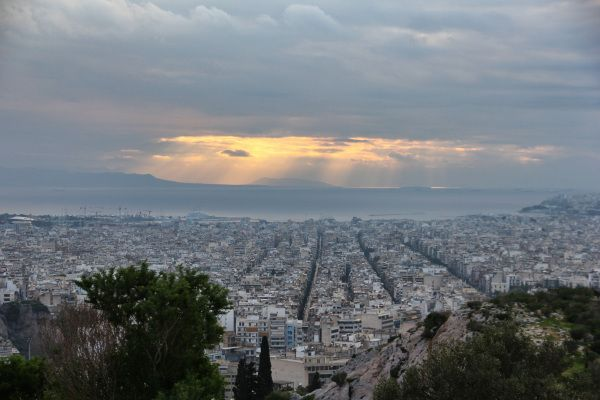 Panoramic view from Philopappou hill..