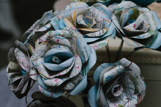 paper flowers instead  of expensive fresh flowers