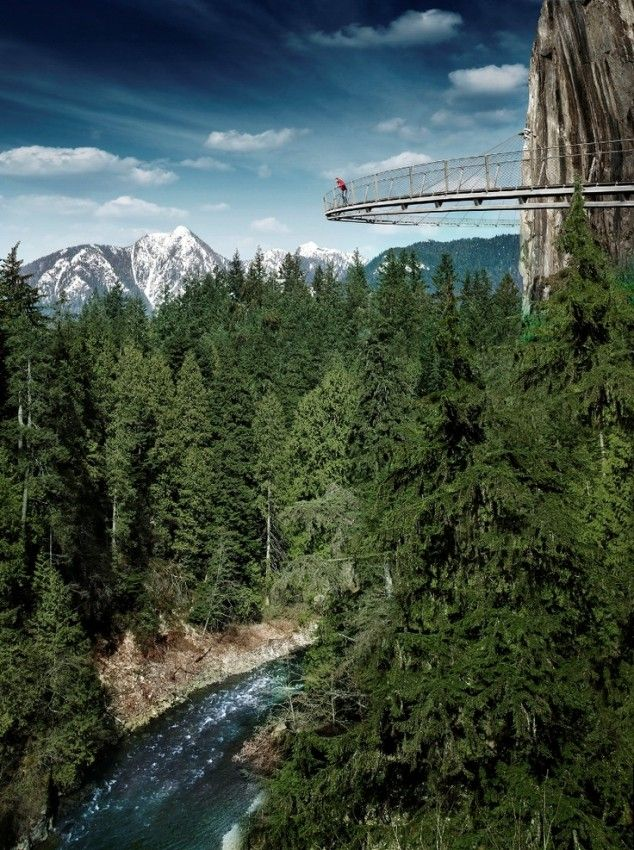 """...Cliff Walk, Vancouver, British Columbia, Canada"" at the Capilano Suspension Bridge Park in North Vancouver. #explorebc"