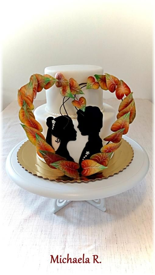 Autumn wedding cake by Mischell - http://cakesdecor.com/cakes/260566-autumn-wedding-cake