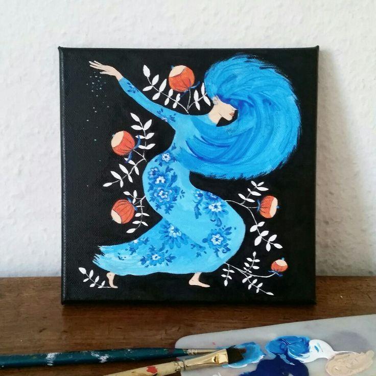 """""""Tout ce qu'on s'aime"""", peinture acrylique sur toile par MATAGADA"""