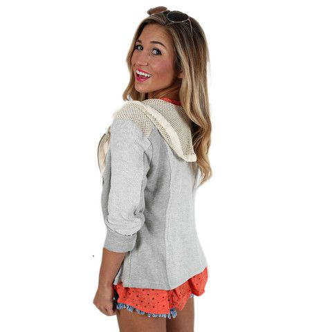 Nautical Glam | Impressions Online Women's Clothing Boutique  The perfect little summer hoodie.
