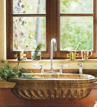 carved travertine marble sink: Italian Decor Kitchens, Bathroom Design, Carvings Travertine, Decor Bathroom, Marbles Sinks, Travertine Marbles, Antiques Sinks, Design Bathroom, Kitchens Sinks