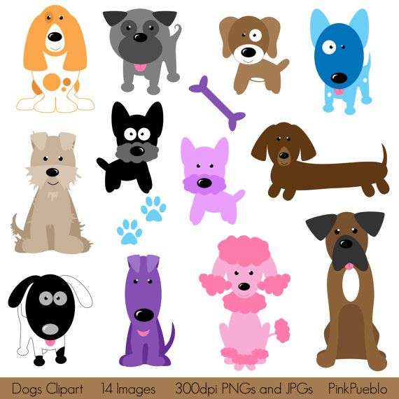 Dogs Clipart Clip Art, Puppy Clipart Clip Art - Commercial and Personal Use on Etsy