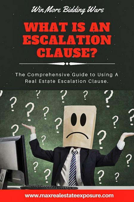 What is an escalation clause and how do they work? Real Estate offers are seeing more escalation clauses due to a strong sellers market. http://www.maxrealestateexposure.com/escalation-clause/