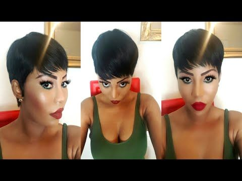 PIXIE CUT Sew In Weave Tutorial Using 28 Pieces - YouTube
