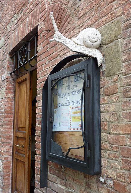 Snail contrade, Siena, Italy