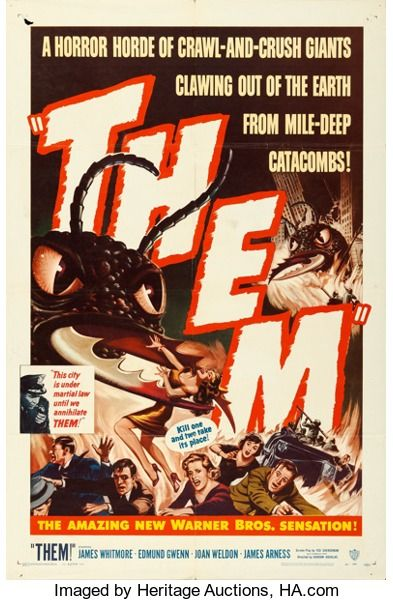 "Movie Posters:Science Fiction, Them! (Warner Brothers, 1954). One Sheet (27"" X 41"").. ..."