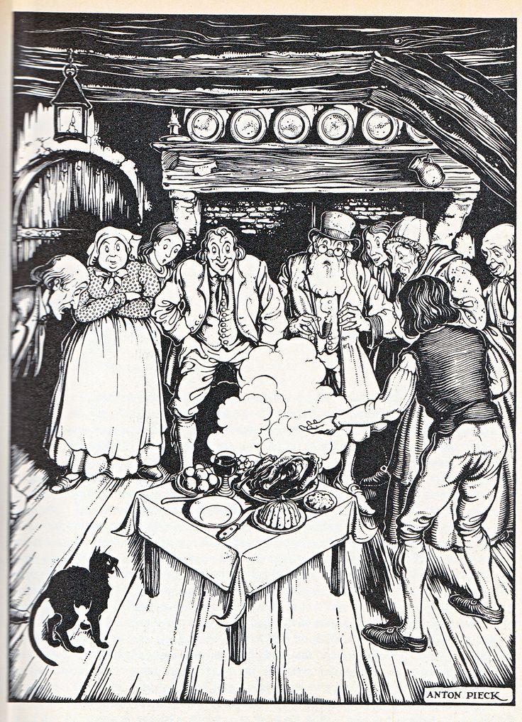 Anton Pieck uit: Grimm,Tafeltje dek je 1
