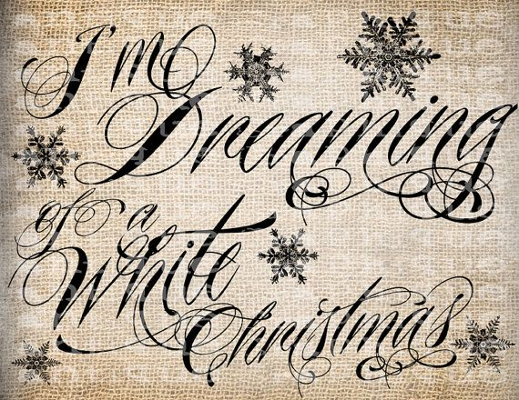Antique Snowflakes Dreaming of White Christmas by AntiqueGraphique, $1.00 would make pretty pillows :)