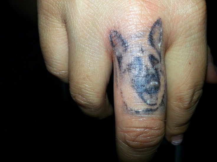 german shepherd tattoo. I would get one like this, but of a boxer dog instead. :)