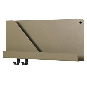 Muuto's Folded shelf, olive, small