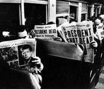 Newspapers on the train/ bus: John Kennedy, November 1963, Commut Reading, Kennedy Assassins, Carl Mydan, Carlmydan, New York, Newyork, York Commut