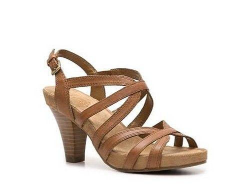 Aerosoles Shoes Tan Leather Headliner Brown Sandals Heel Strappy 7 M New  79  eBay