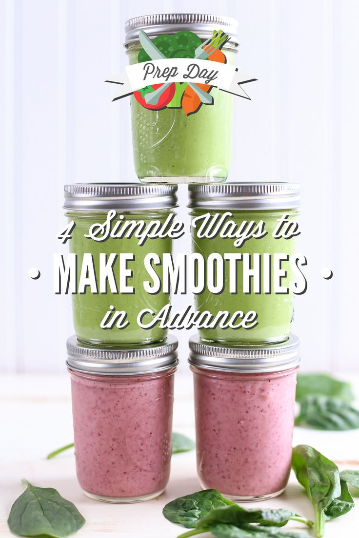 How to prep smoothies in advance! Learn the best ways to make smoothies in advance.
