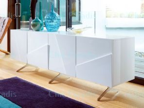 Buy Ice High Gloss White Low Wide TV Sideboard