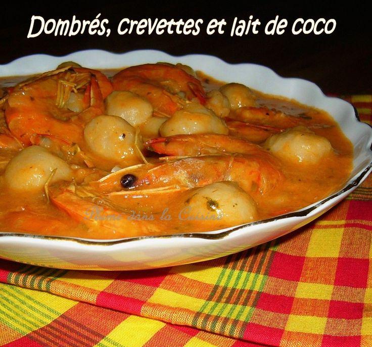 dombrés crevettes et lait de coco