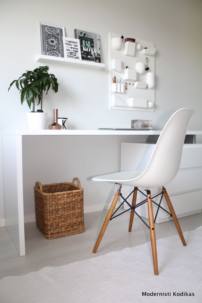 Image Result For Modern Simple Workspace White Pinterest Home Office Decor Home Office Design Interior