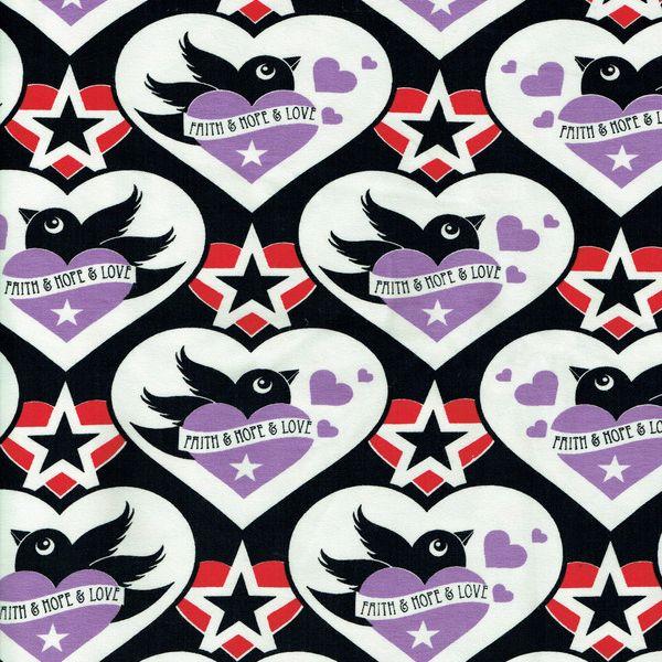 FHL Faith, Hope and Love svart/lilac