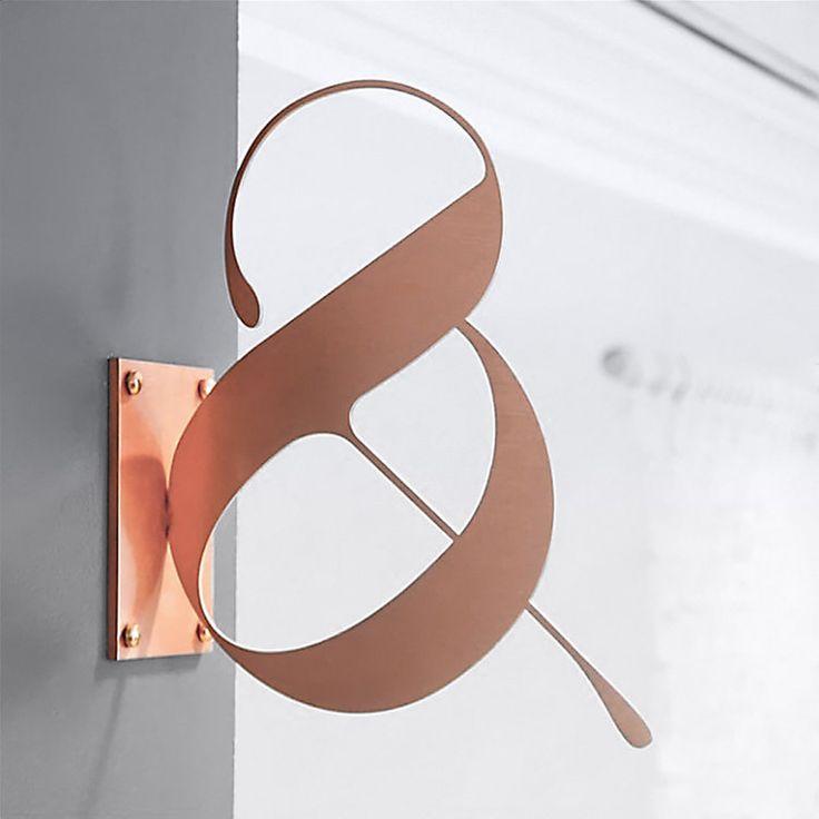 Lou & Grey / #signage #copper / Michael Riso