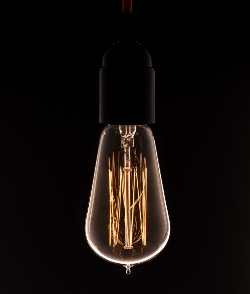 Pear Squirrel Cage Filament Bulb In 2019 Mythic Media