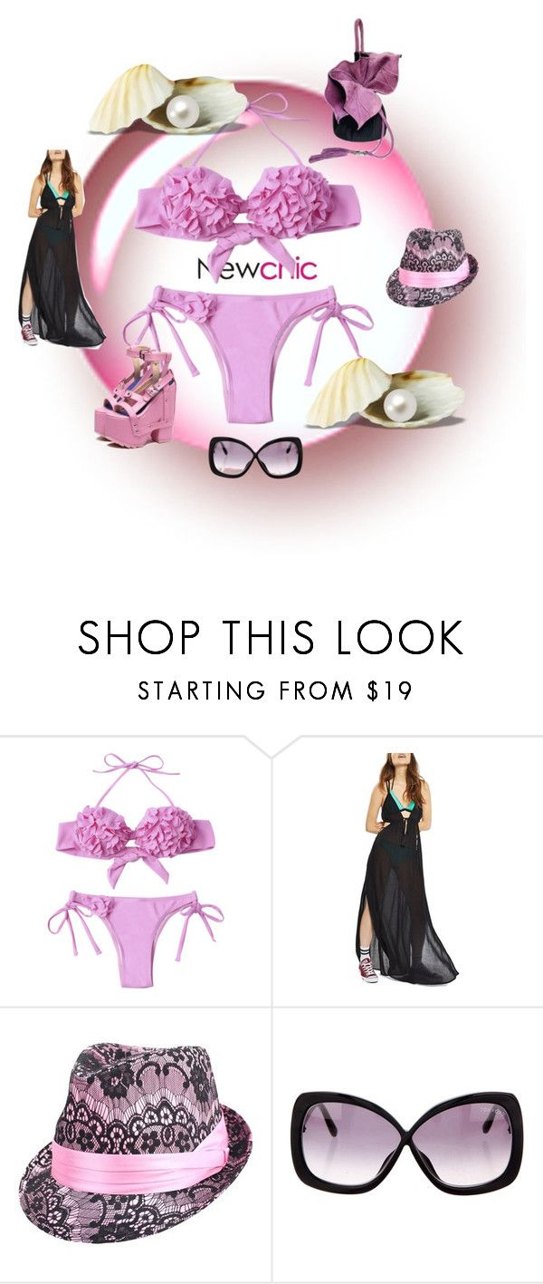 """""""розовый купальник"""" by oliviaoistrach ❤ liked on Polyvore featuring Topshop and Tom Ford"""