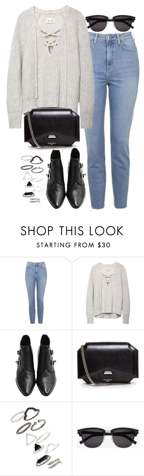"""""""Untitled #626"""" by weyheytati ❤ liked on Polyvore featuring мода, Topshop, Givenchy и Yves Saint Laurent"""