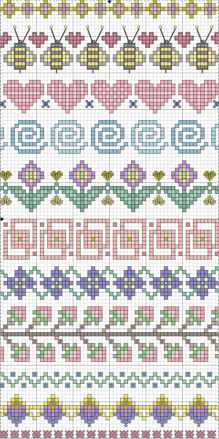 Point de croix *m@* Cross stitch borders