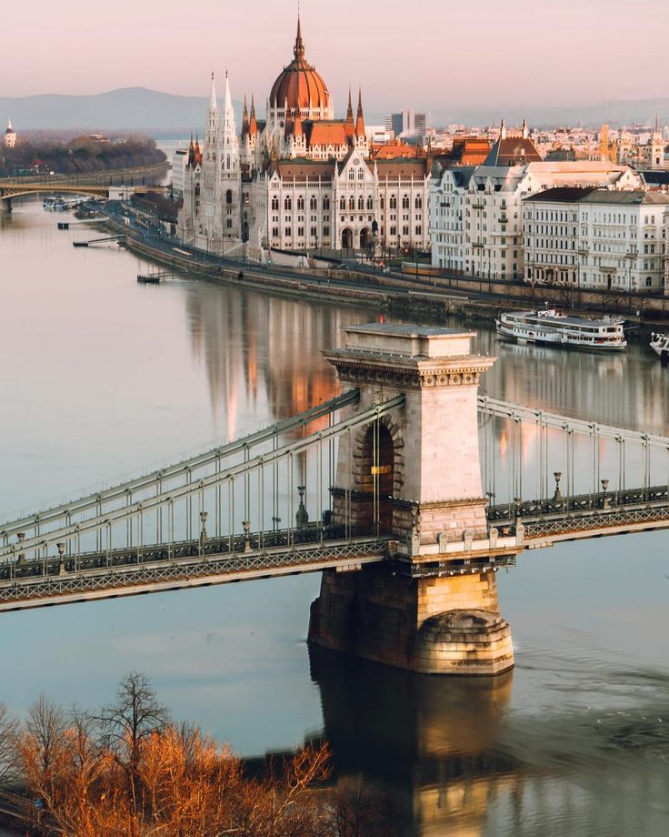 Buda Castle, Danube River, Budapest, Hungary.