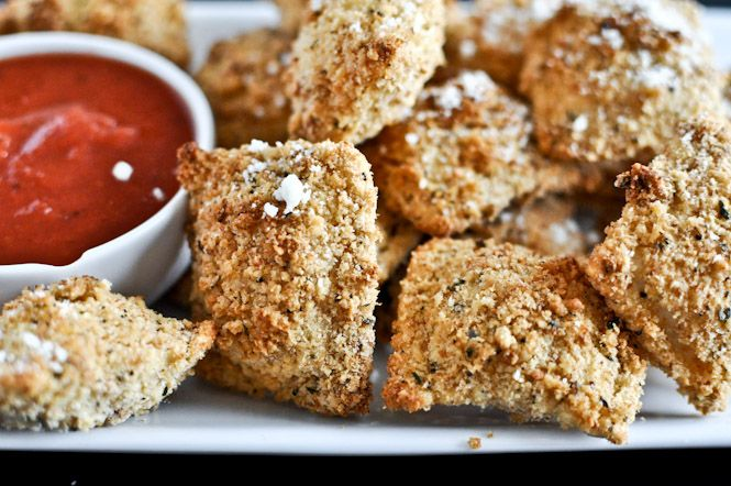 Crunchy Oven-Fried Cheese Ravioli