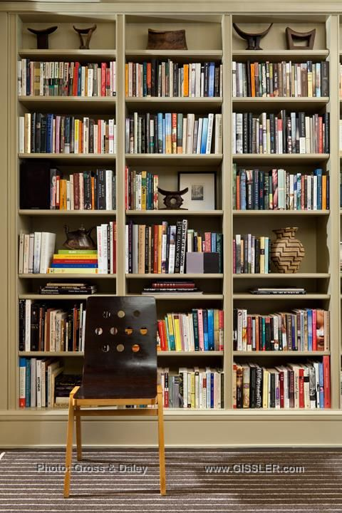 65 best library images on pinterest bookshelves bookcases and shell balance and visual interest is a guiding light for designing interiors this home library approaches malvernweather Image collections