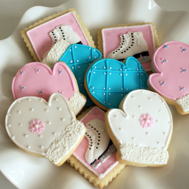 ice skate party cookies