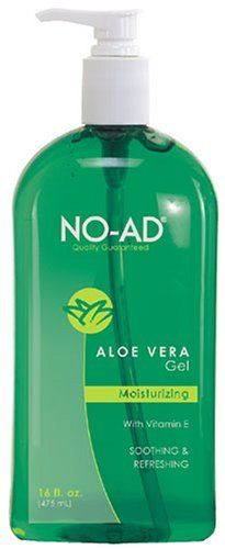 NO-AD Aloe Vera Gel, 16 Ounces by NO-AD. $8.89. Moisturizes dry skin caused by exposure to sun or wind. Helps heal and relieve sunburn and minor skin irritations. NO-AD Aloe Vera Gel is a soothing gel of pure aloe vera. An after sun care product that helps heal and soothe sunburned skin while keeping the skin moisturized to minimize peeling. NO-AD (not advertised) is a brand of suncare products that prides itself on bringing consumers the finest quality products for the lowest p...