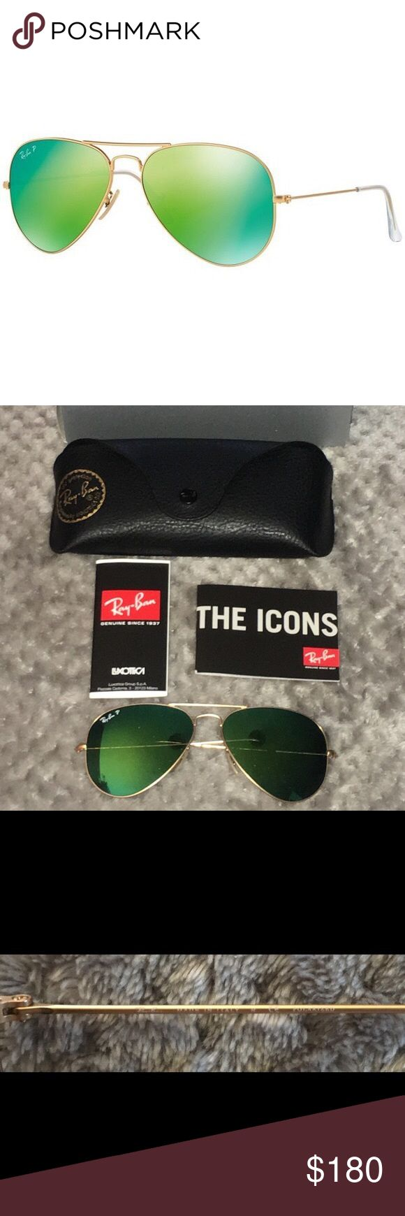 💥POLARIZED💥 Ray Ban Authentic & NEW! Ray Ban model number- RB3025 *POLARIZED* Large Aviator - Color Code- 112/P9 - Eye Size- 58. Comes with box- case - cleaning cloth and authenticity certificate. 100% authentic - NEW - NEVER been worn and ZERO scratches. Ray-Ban Accessories Sunglasses