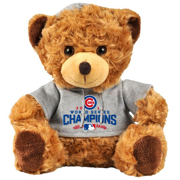 MLB Shop - Chicago Cubs Brown 2016 World Series Champion Seated Hoodie Bear, $14.99