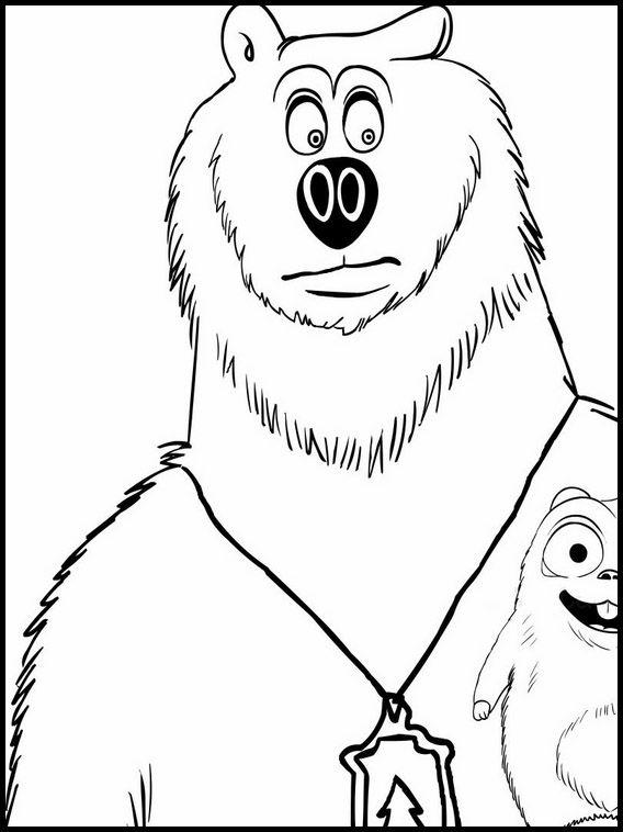 Dibujos para Colorear. Dibujos para imprimir y pintar Grizzy y los ...