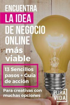 13 pasos para encontrar una idea de negocio online viable. Encuentra la tuya! Incluye guía de acción descargable y muchos tips. Obtén el tutorial.