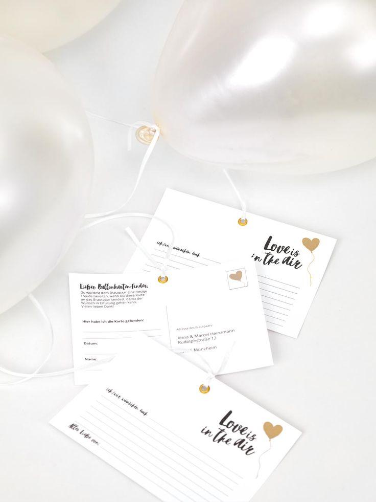 vorlagen ballonflugkarten f r eure hochzeit geschenke mitbringsel ballonflugkarten ballons. Black Bedroom Furniture Sets. Home Design Ideas