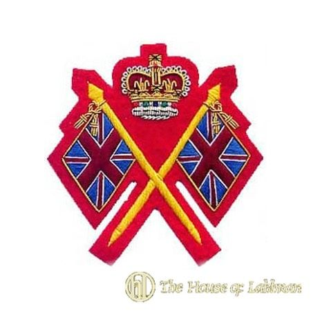 red colour sergeant sleeve rank badge insignia