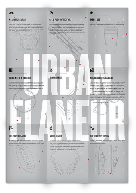 Poster Fold Out: by Jonathan Mutch, via graphic design layout, identity systems and great type lock-ups. #design