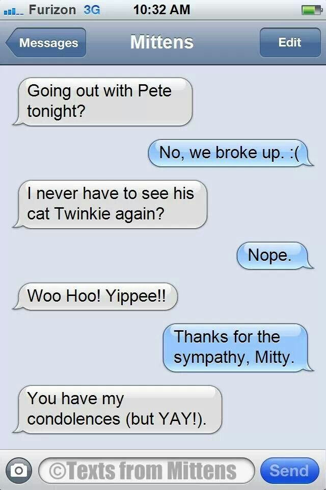 Texts from Mittens.
