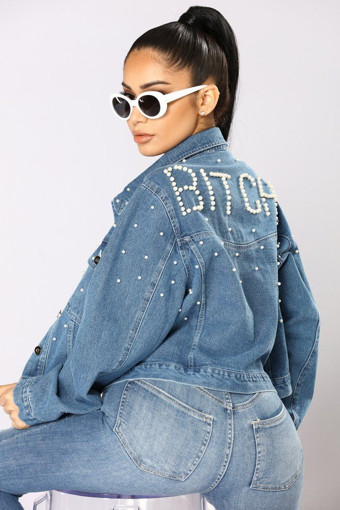 Bitch Mode Denim Jacket - Medium Wash