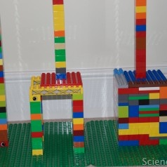 looking at stability, kids science, DUPLO