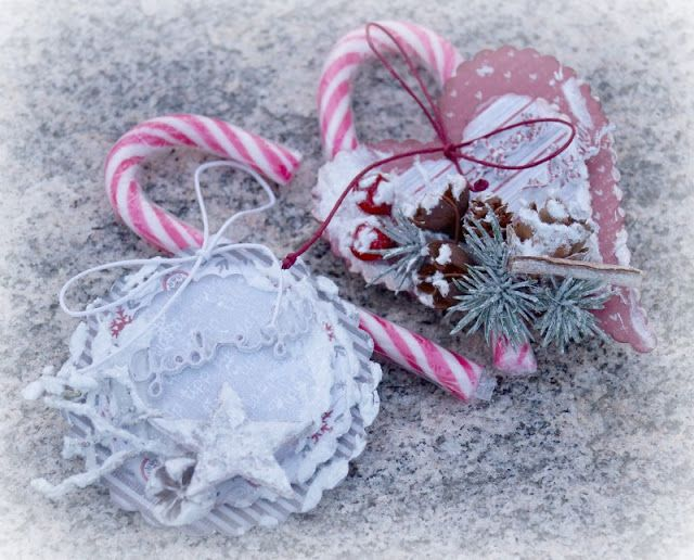 Mitt Lille Papirverksted: Visions of Sugarplums - Candy Cane