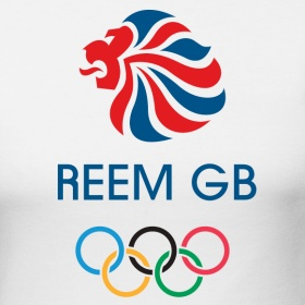 Women Girlie Fit Reem GB Rings (Not Team GB, Olympics) | ReemGB