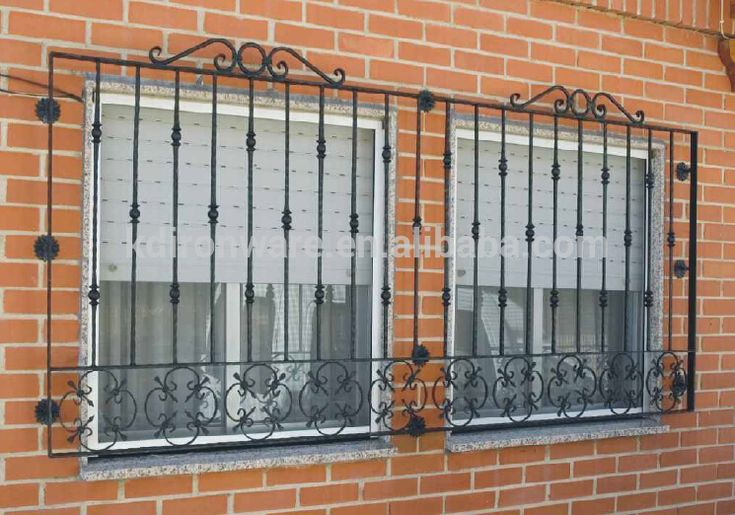 Beautiful Low Carbon Q235 Steel Window Grill Design, House Grill Design