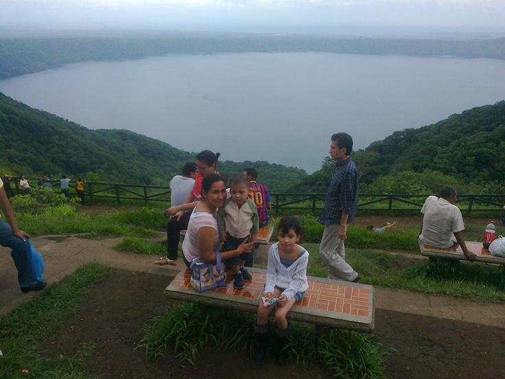 Laguna De Apoyo,Granada Nicaragua.  Desde El mirador Catarina  Masaya.