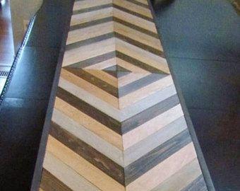 Chevron mesa madera, mesa consola madera geométrica, mesa de bricolaje, Chevron mesa de sofá, mesa de entrada, mesa lateral, sudoeste Decor