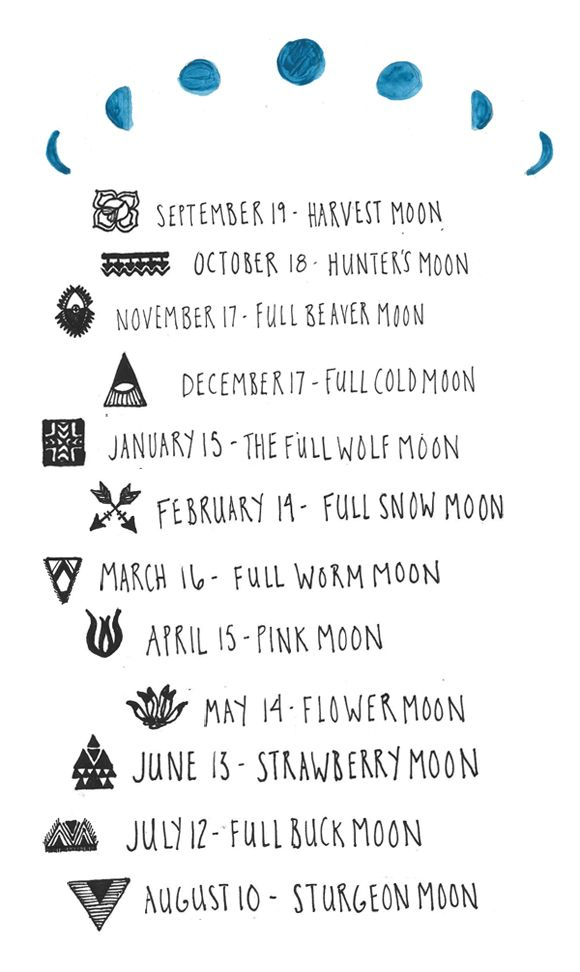 Seasonal Moon Calendar 2013-2014